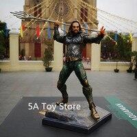 DC Comics Justice League Superhero Aquaman Arthur Curry PVC Action Figure Collectible Model Toy