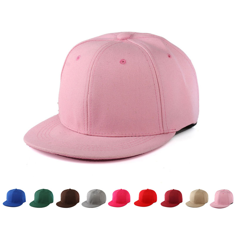 New Women Men 15 Colors Hot Fashion Solid Color Snapback Hats Hip-Hop Adjustable Caps Unisex