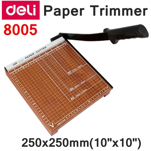 readstar deli 8005 trimmer manual de papel tamanho 250x250mm 10 x 10 grande cortador