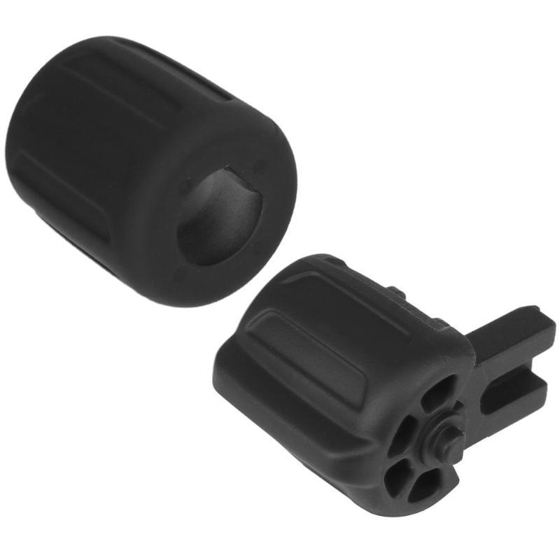 2 botones de goma para el volante color negro