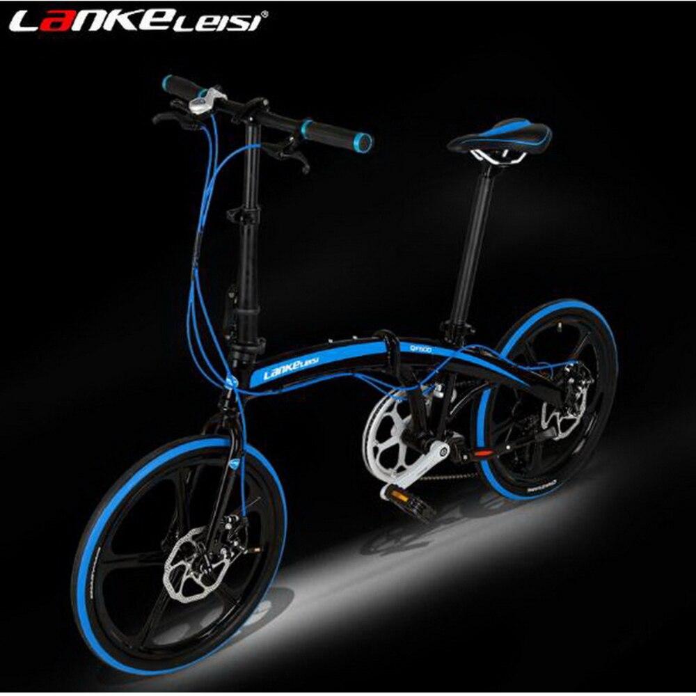 Tb250908/20 pouces voiture pliante/7 vitesses Ultra-léger en alliage d'aluminium freins à deux disques hommes et femmes vélo pliant/peinture électrostatique