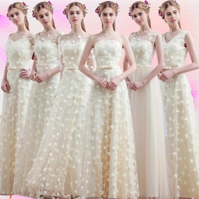 In the spring of 2016 new bridesmaid dresses long sisters dress bridesmaid dresses long evening dress 2016 the new bridesmaid dresses bridesmaid dresses long grey spring evening dress female sisters dress party conference
