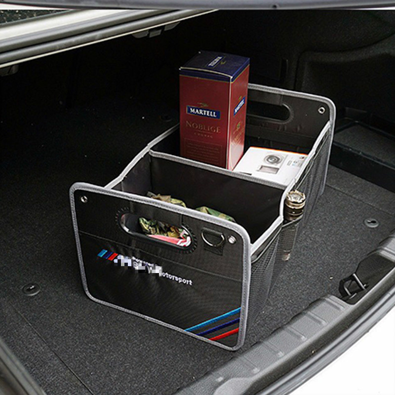 цена M logo Car styling Trunk box bag Storage Organizer with Straps For BMW E90 E46 E39 E60 E36 F30 F10 E30 E34 E53 F20 E87 E70 E92