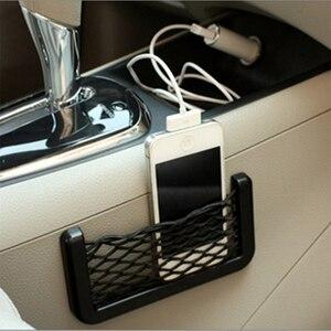 Image 4 - Organizador de bolsillo de malla para Red de Almacenamiento de coche, para smart fortwo, renault clio 2, seat leon fr, renault clio 4, passat b7, toyota