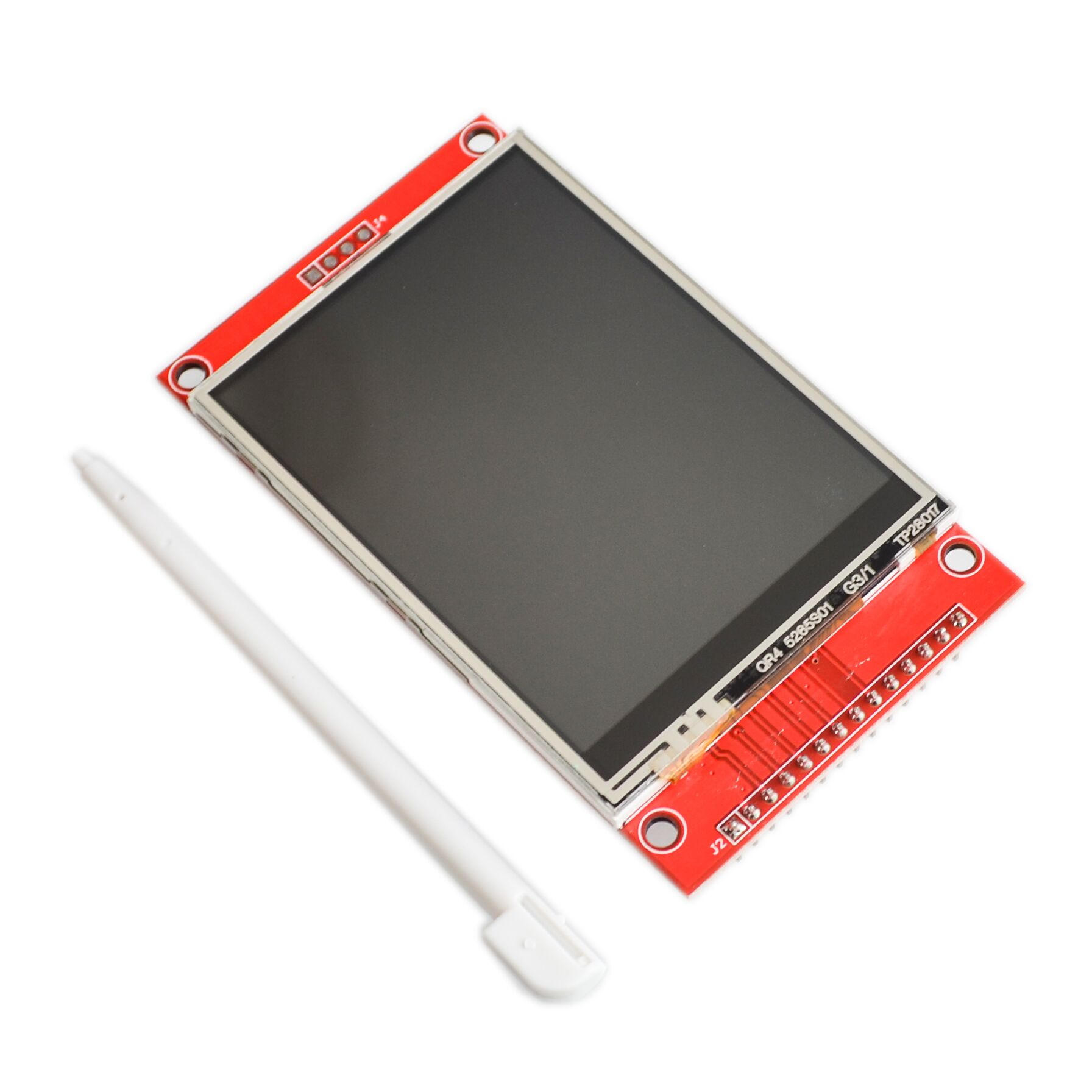 """240x320 2.8 """"Module de Port série d'écran tactile de TFT LCD de SPI avec PBC ILI9341 2.8 pouces affichage de LED blanc série de SPI avec le stylo tactile"""