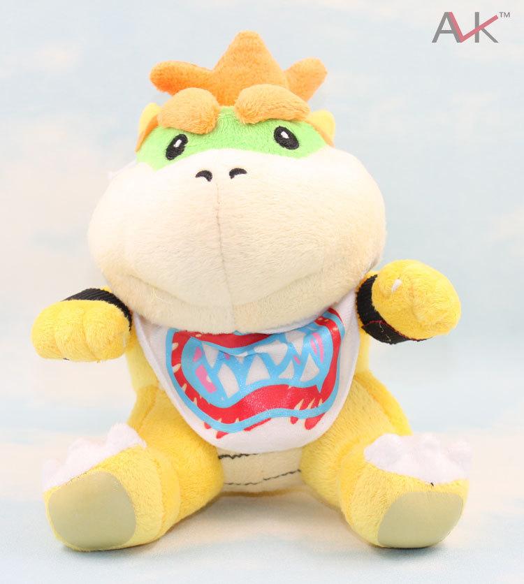 "5Pcs/Lot 15Cm New Super Mario Brothers Bowser JR Plush Doll 8"" Wholesale,Kids Birthday Toys Kids Gift"