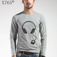 2017 neue t-shirt Marke mode Druck Slim Fit Langarm männer T O-ansatz Casual männer T-Shirt Baumwolle Musik T Shirts M-5XL