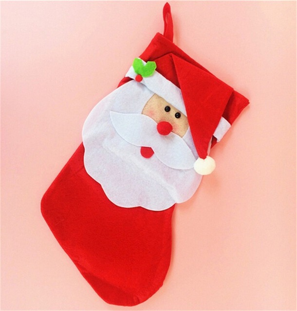 2pcslot christmas decoration christmas stockings indoor christmas tree ornaments big santa claus stocking new - Big Indoor Christmas Decorations