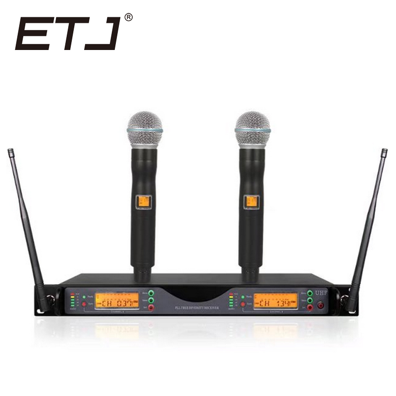 все цены на ETJ Brand UR24D True Diversity UR4D With Dual Handheld Wireless Microphone For Stage Performance онлайн