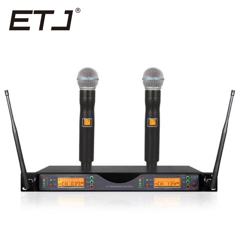 все цены на ETJ Brand UR24D UR4D With Dual Handheld Wireless Microphone For Stage Performance онлайн