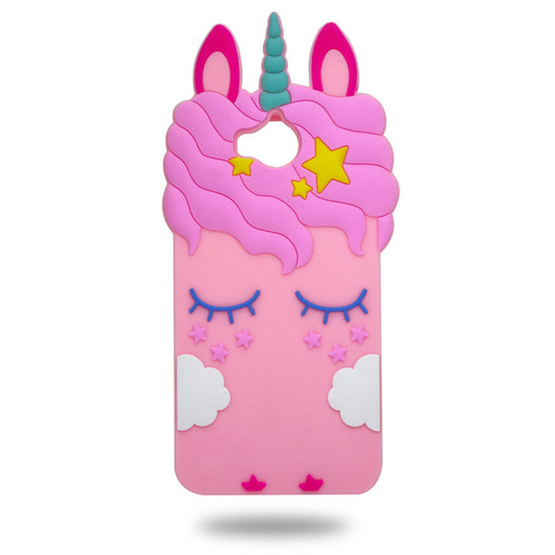 Wekays Unicorn phone Cases For Huawei Y5 2017 / Y7 Prime Enjoy 7 Plus Cute Cartoon pink horse Soft back case cover Fundas Capa
