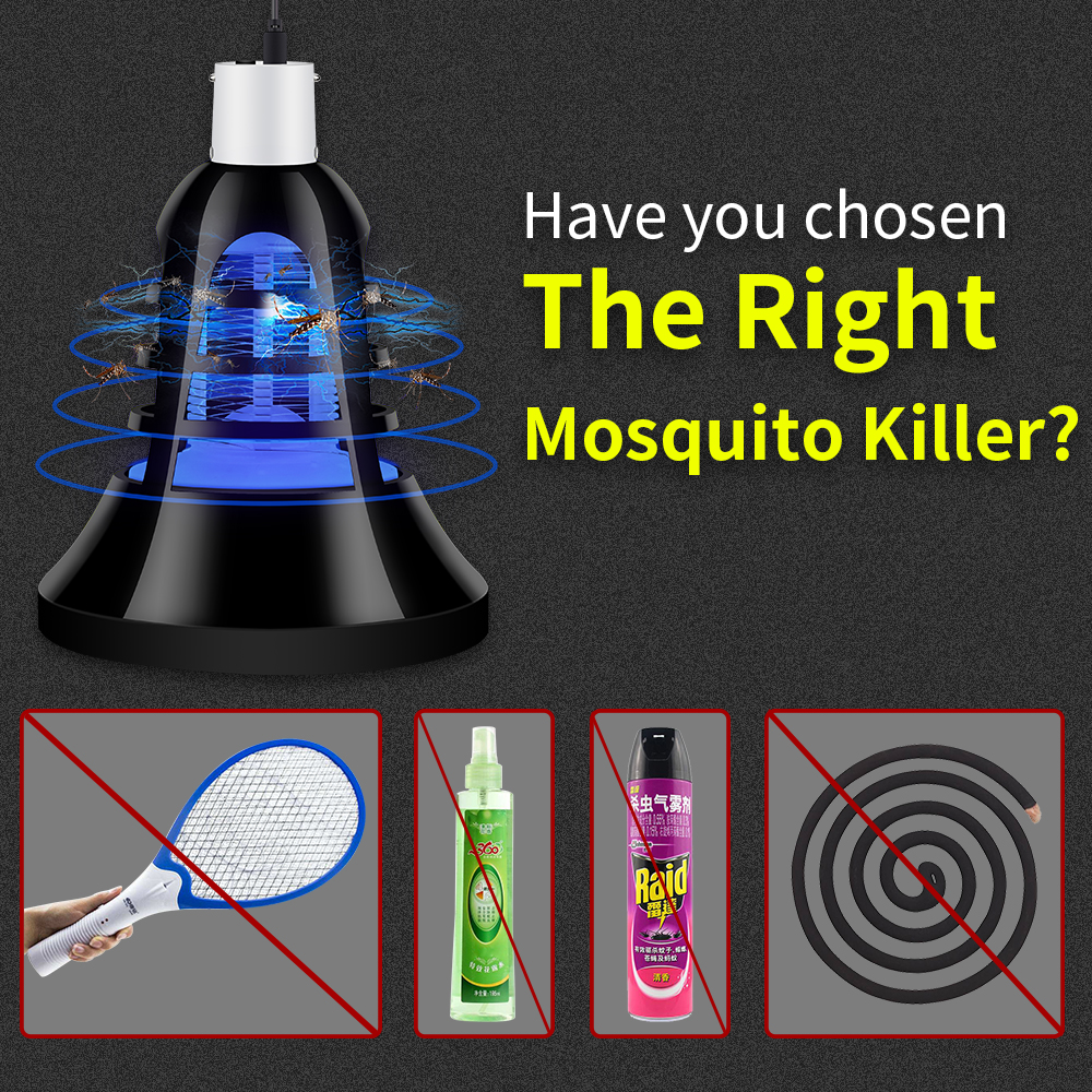 2PCS LED Light Mosquito Killer Lamp E27 Anti Insect 220V USB Trap Outdoor 110V Fly Zapper Bulb 5V