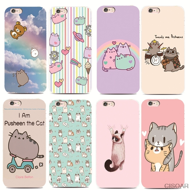 best loved 09a83 ae5cc US $2.0 |CISOAR funny lovely Pusheen Cat For iPhone 7 7Plus 5S 6S Samsung  Galaxy S8 Plus S7 S6 Edge S4 S5 A7100 Hard plastic shell-in Fitted Cases ...