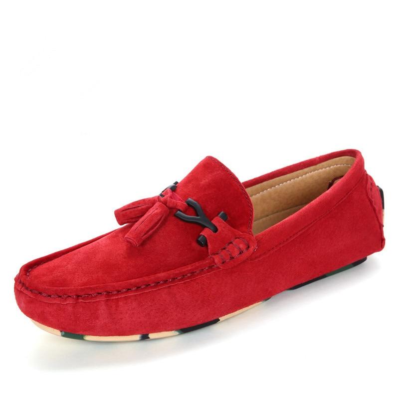 Fmzxg ЕСМ 101-116 мужская кожаная обувь Повседневное Элитный бренд мужские лоферы модная дышащая обувь для вождения слипоны Мокасины