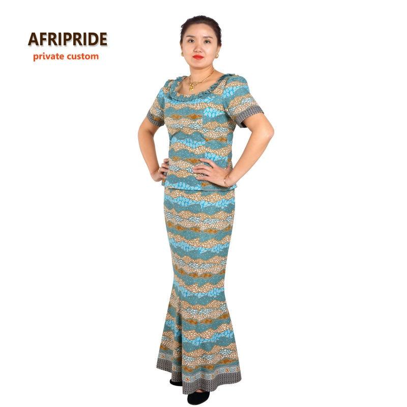 Gaya tradisional Afrika 2 keping skirt ditetapkan untuk wanita - Pakaian kebangsaan - Foto 3
