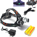 8000 lumen 3x L2 LED Rechargeable Headlamp Headlight Outdoor Camping Head Torch+Usb Cable+Ac Charger+2x18650 Battery
