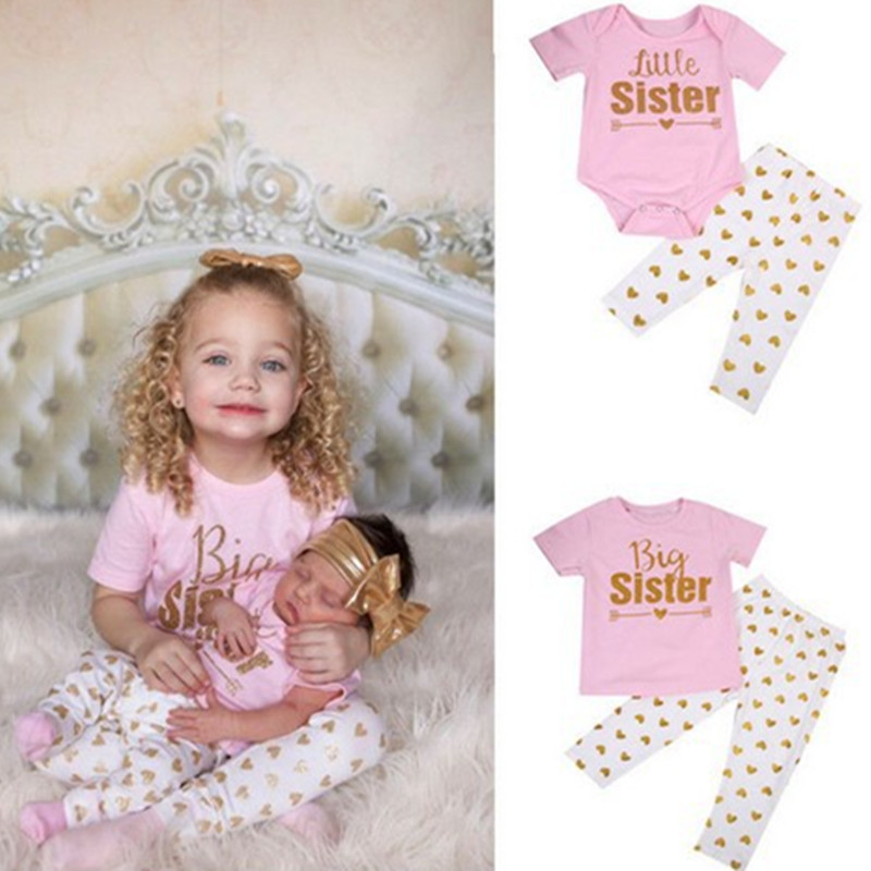 Matching Family Outfits Big Sister Little Sister Clothing Set Family Look  Cotton 2 PCS Outfits Baby Girl Clothes H0203-in Matching Family Outfits from Mother & Kids on Aliexpress.com | Alibaba Group