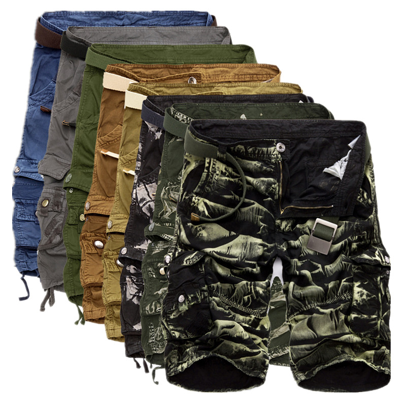 Men Beach Pants Sports Loose Sweatpants Camouflage Cargo Work Army Shorts Casual