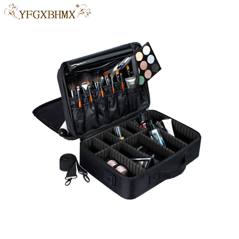 Makeup Organizer Box Jewelry Necklace Nail Polish Earring Plastic Makeup Box Home Desktop Organizer For Cosmetics