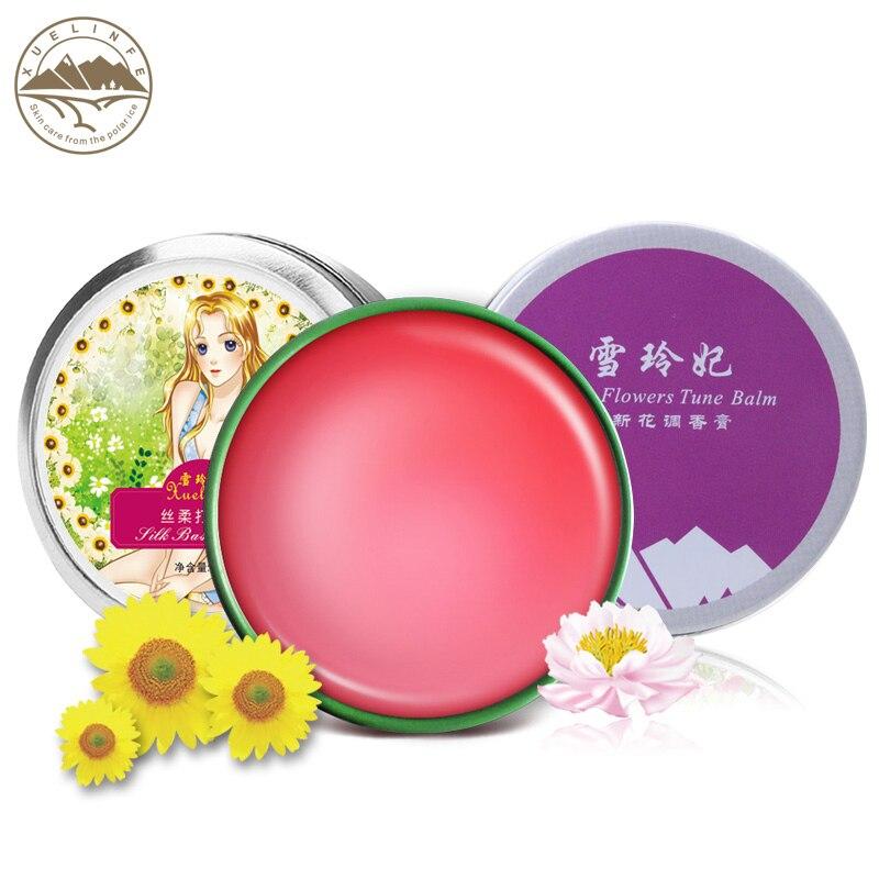 SNEFE Charming women skin care set silk makeup base cream flower bud Lip balm Solid Perfume 3 pieces/lot free shipping