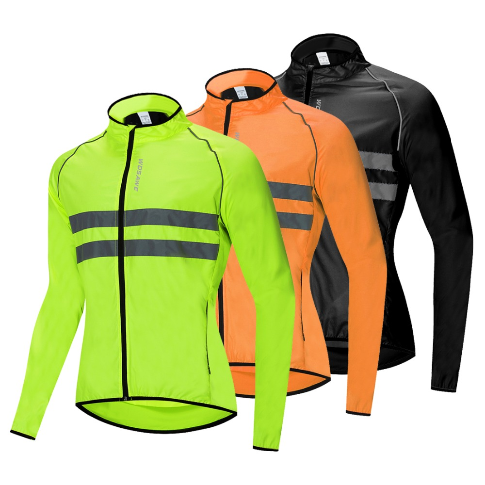 WOSAWE Breathable Reflective Running Jacket Water Resistance Windproof Waistcoat Windbreaker High Visibility Thin Sports Jacket