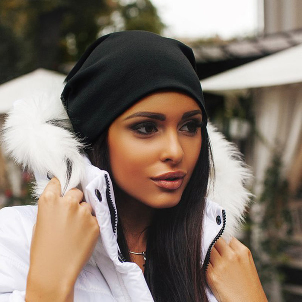 2019 Fashion 13 Colors Unisex Knitted Hats Winter Warm Ski Crochet Hat Slouch Punk Women Men Cotton   Skullies   Blends   Beanie   Caps