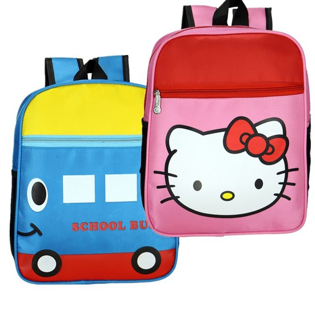 4b7ae2deef Cute baby fashion backpack Hello Kitty cartoon kids small school bags  children travel bag for kindergarten boy girls candy bags