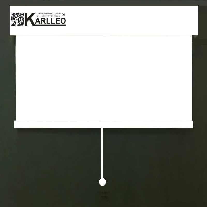 KARLLEO Cordless Roller Blinds Sunscreen 70% Blackout Roller Blinds Free-Stop Customized Size