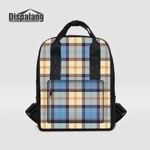 Dispalang бренд плед печати рюкзаки для женщин Мода ноутбук рюкзак для девочек школьные сумки леди сумка Mochila Feminina