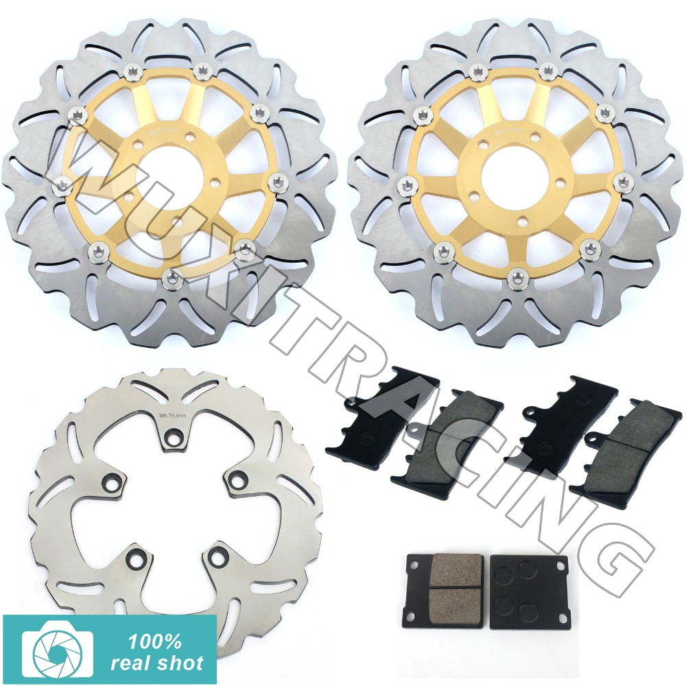 Full Set Front Rear Brake Discs Disks Rotors + Pads for Suzuki GSXR 750 94 95 GSX-R 1100 P R S T 1993 1994 1995 1996 full set front rear brake discs disks rotors pads for suzuki gsxr 750 94 95 gsx r 1100 p r s t 1993 1994 1995 1996