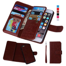 Для iphone 5S случай 2 в 1 съемная слот для карты бумажник Магнитный кожаный чехол для iPhone 5 5S 6 6 S плюс 7 7 Plus телефон Чехлы крышка
