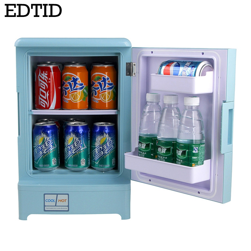 EDTID 2 in 1 Mini Car Refrigerator Multifunction Used in Car and Home High-quality,15L 48w convinent Energy-saving portable mini projector home cinema digital smart led projectors support 1080p movie pc video game can use mobile power supply