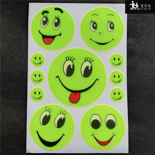 1 sheets Reflective sticker students school bag sticker car scooter bicycle motorcycle sticker luggage sticker high visibility