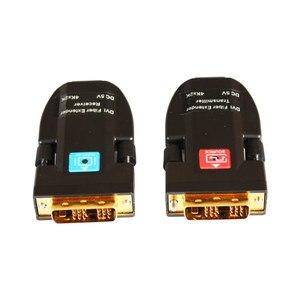 Image 2 - אופטי סיבי משדר סיבי מדיה ממיר AMS DTR1L מיני dvi סיבי extender תמיכת 4k עבור ענק led תצוגה