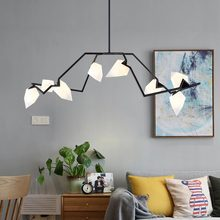 Modern Glass Peach Pendant Light Led Nordic Dining Room Kitchen Designer Hanging Lamps Avize Suspension Luminaire