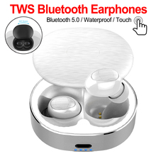 Bluetooth 5.0 TWS Wireless Earphone 3D Stereo Bluetooth Earphones Touch Control Hifi Bass Mini Earbuds With Dual MIC fashion best bass stereo earphone for alcatel one touch hero 2 earbuds headsets with mic remote volume control earphones