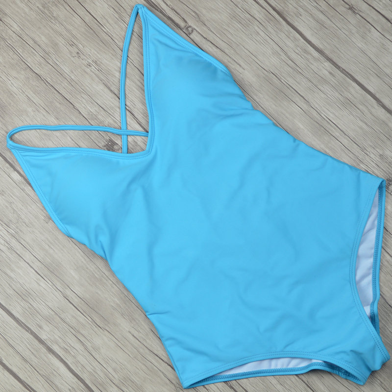 2019 Sexy One Piece Swimsuit Women Swimwear  (33)