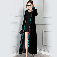 Nerazzurri Winter Wool Coat Women 2019 Slim Thick Long Floor Length Woolen Female Overcoat Real Fur Plus Size 5XL High Quality