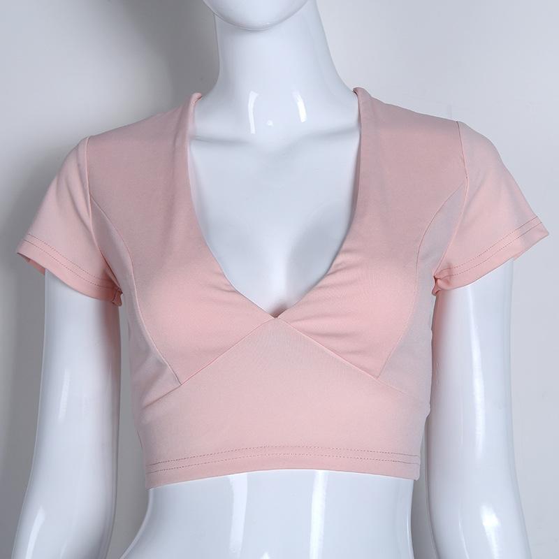 Lace Up Back Sexy T-shirt, Crisscross Fashion T- shirt, Summer Crop Top 16
