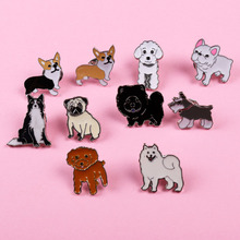 MINI husky charm pet dogs pendant badge decorated pins cartoon cute brooches handbags deserve to act role of men and women gift