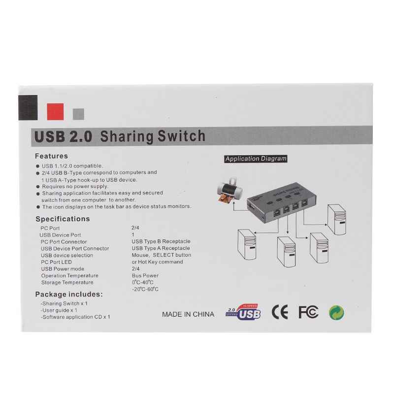 Auto Manual USB 2.0 Berbagi Switch Aluminium Alloy 2 Port Adaptor untuk PC Komputer Printer Scanner Switcher Perangkat Aksesoris