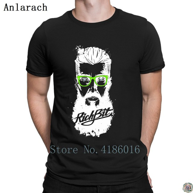 RichBit Hipster футболка Лето известный топы, футболки большие размеры Мужская футболка Настроить Юмор натуральный футболка мужские