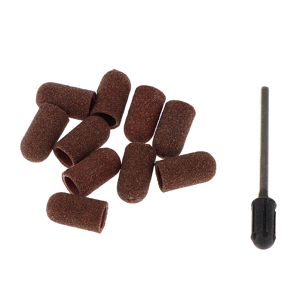 10 Pieces Dark Brown Sanding Bands Nail Drill Sand Band For Acrylic Nails Manicure Machine and