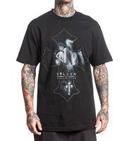 Sullen Men S Angel Dream T Shirt Black Hip Hop Skull Clothing Apparel Tops Casual T