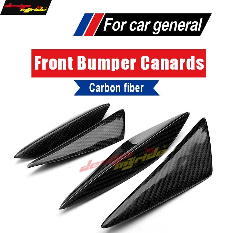 For KIA K2 Universal 4Pcs Front Bumper Lip Splitter Carbon Air Knife Body Kit Car-Styling
