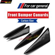 цена на For KIA K2 Universal 4Pcs Front Bumper Lip Splitter For KIA K2 Carbon Front Bumper Lip Splitter Air Knife Body Kit Car-Styling