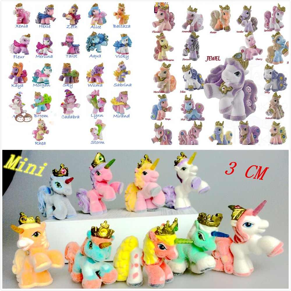 Ailaiki 20pcs lot 3cm simba filly little horse dolls witchy unicorn stars butterfly etc