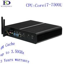 [Седьмого Поколения Intel Core i7 7500U] Кабы Озеро Безвентиляторный Mini PC, Макс 3.5 ГГц, Intel HD Graphics620, микро-Компьютер, 4 К HTPC, Windows 10 Pro