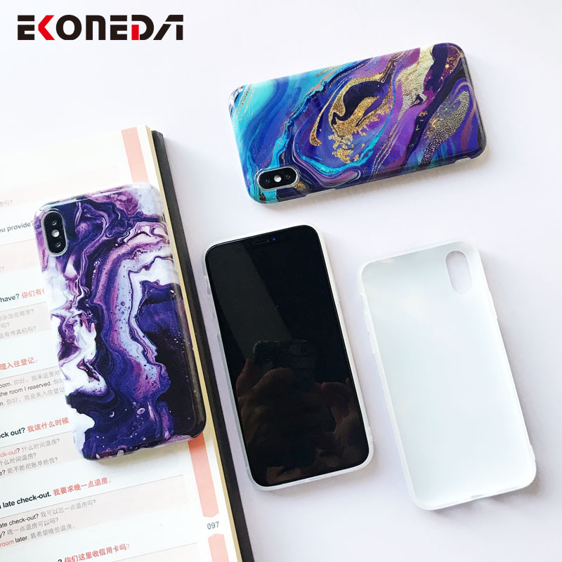 Image 5 - EKONEDA Soft IMD Case For iPhone X Case Marble Phone Cases For iPhone 7 Case Silicone Cover For iPhone 6S 7 8 Plus XS Max XR-in Fitted Cases from Cellphones & Telecommunications
