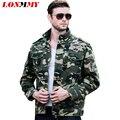 LONMMY 3XL chaqueta Militar de los hombres ocasionales del mens chaquetas y abrigos Fuerza aérea 1 hombres de Camuflaje capa Bombardero chaquetas de Algodón para hombres jaquetas